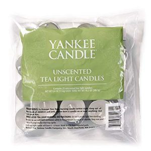 Yankee Candle Bag of 25 Unscented Tea Lights