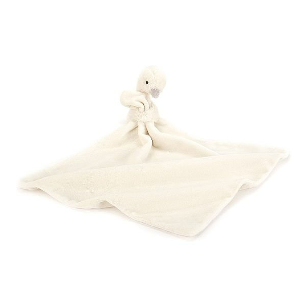 Jellycat Syllabub Swan Grey Soother - 34 cm