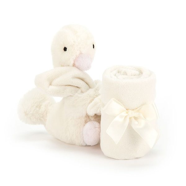 Jellycat Syllabub Swan Pink Soother - 34 cm