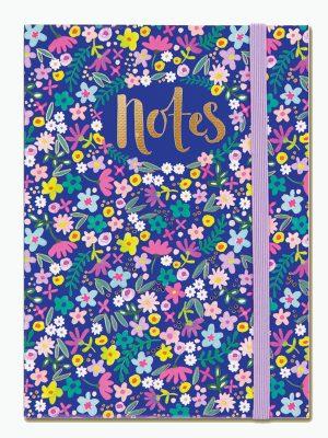 Navy Floral A6 Notebook - Rachel Ellen Designs