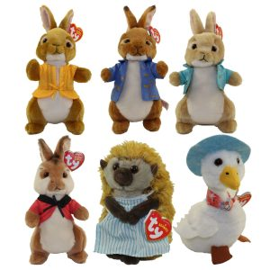 TY Beanie Peter Rabbit The Movie Soft Toy - Beatrix Potter set