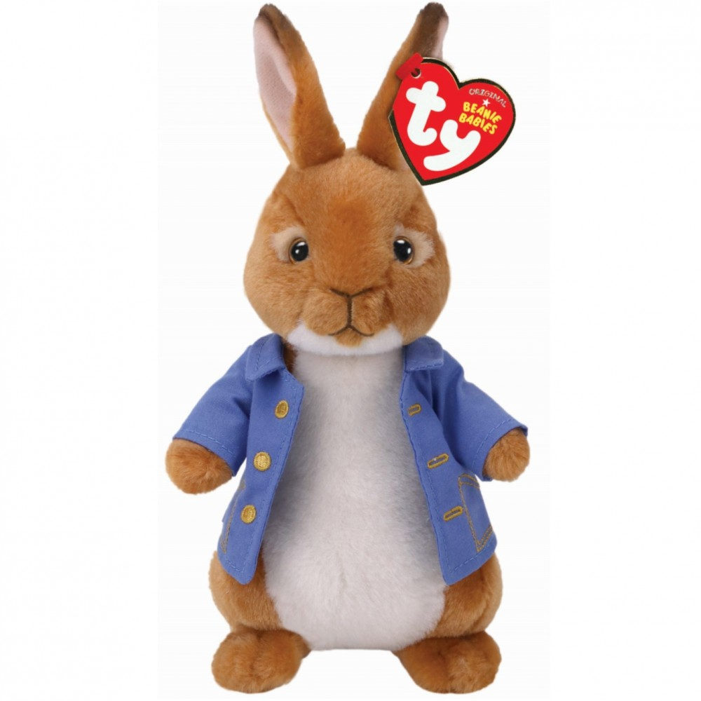 TY Beanie Peter Rabbit The Movie Soft Toy - Beatrix Potter