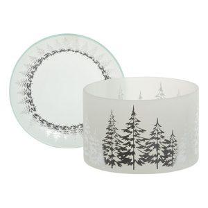 Winter Trees Shade & Tray Set - Yankee Candle