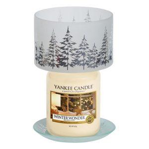 Winter Trees Large Shade & Tray Set - Yankee Candle