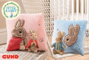 Peter Rabbit Cushion - Beatrix Potter Flopsy Bunny Cushion
