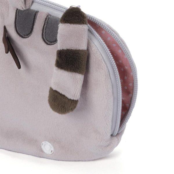Official Licensed Gund Pusheen Plush Zip-Close Wristlet By Gund