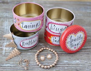 Sparkly Things and Jewellery Stackable Tin - Rachel Ellen Designs