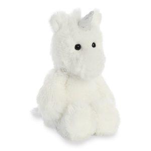 Cuddly Friends White Unicorn, 8 inch - Aurora World