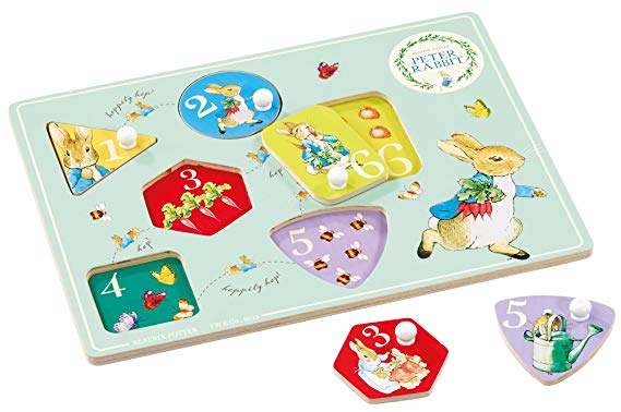 Peter Rabbit Wooden Peg Puzzle - Rainbow Designs