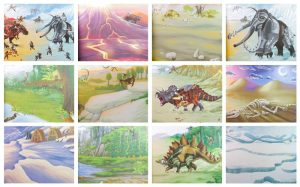 Create Your Own Dino World Sticker Book - Depesche