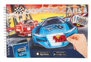 Monster Cars Create Your Own Pocket Colouring Book - Depesche