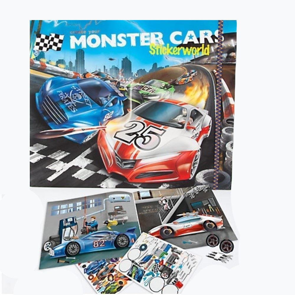 Monster Cars Create Your Own Depesche Design 24 Gifts