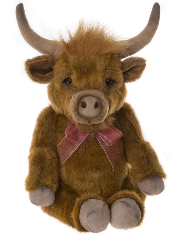 Patty Highland Cow, 36 cm - Charlie Bears Bearhouse BB193901