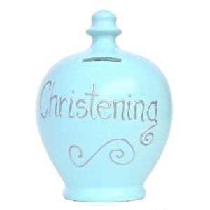 Terramundi Money Pot – Christening, Pale Blue