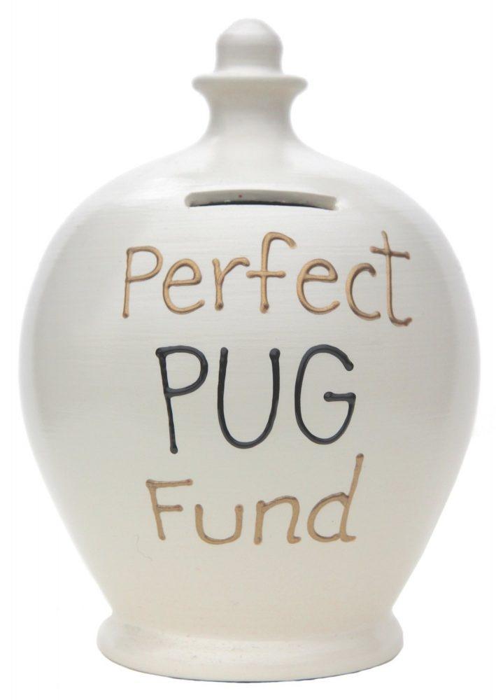 Terramundi Money Pot Perfect Pug Fund, White