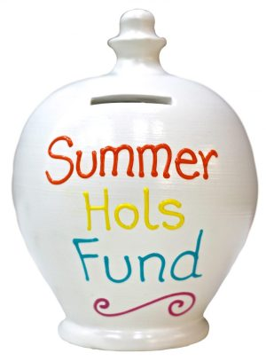 Terramundi Money pot Summer Hols Fund, White