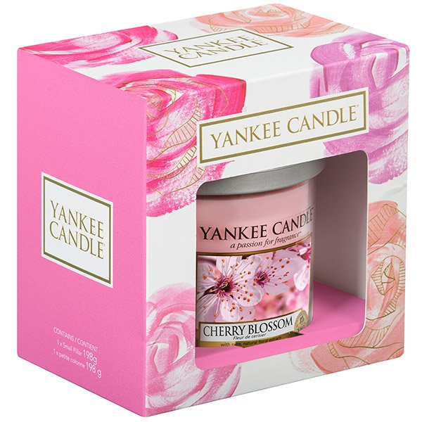 795fdb9b09a Yankee Candle Cherry Blossom Small Pillar Candle Gift Set - Design ...