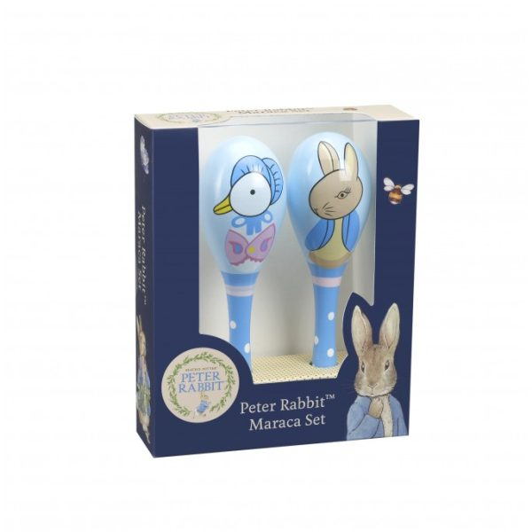 Peter Rabbit & Jemima Puddle-Duck Wooden Maracas Set - Orange Tree Toys
