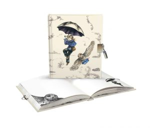 Mondoodle Girl & Owl Lockable Notebook - Roger La Borde ()