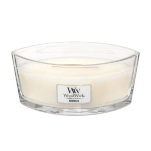 WoodWick HearthWick Magnolia Ellipse Candle, 453g