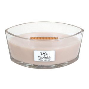 WoodWick HearthWick Vanilla and Sea Salt Ellipse Candle, 453g