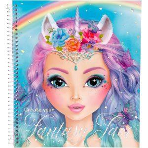 Create Your TOP Model Fantasy Face Colouring Book 10199 - Depesche