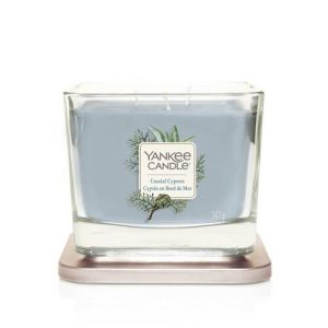 Yankee Candle Elevation Collection – Coastal Cypress - Medium 3-Wick Square Candle