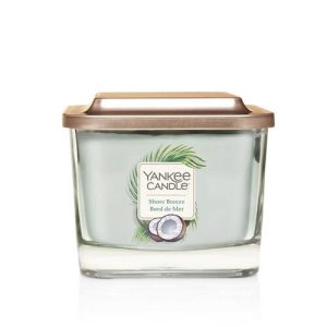 Yankee Candle Elevation Collection – Shore Breeze – Medium 3-Wick Square Candle