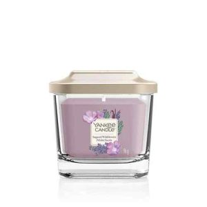 Yankee Candle Elevation Collection – Sugared Wildflowers – Small 1-Wick Square Candle