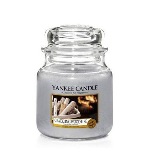 Crackling Wood Fire - Yankee Candle - Medium Jar, 411g