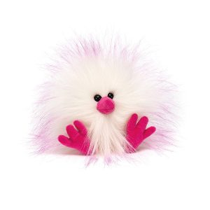 Jellycat  – Crazy Chick Pink & White, 11 cm