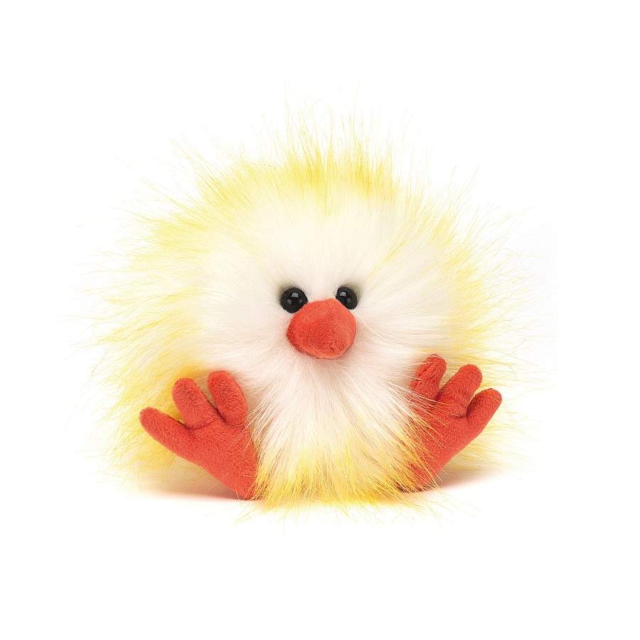 Jellycat - Crazy Chick Yellow & White, 11 cm
