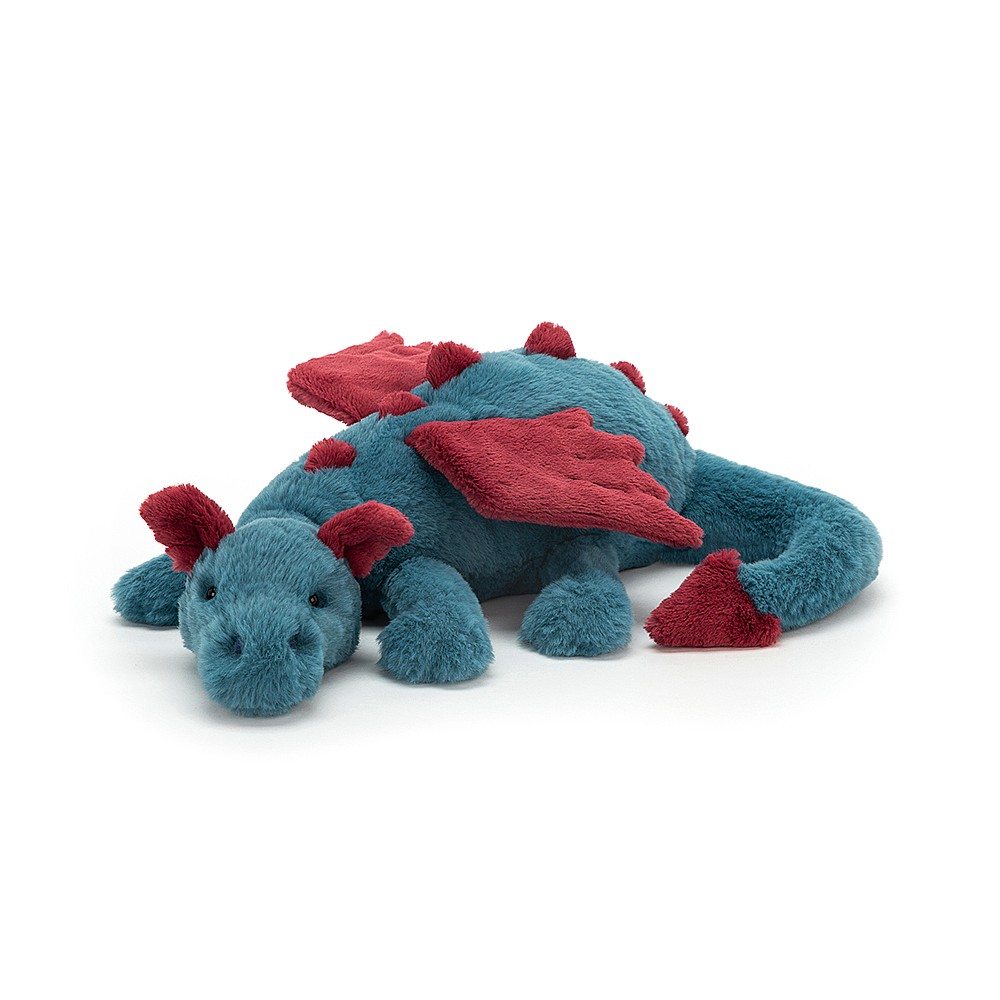 Jellycat Dexter Dragon - Medium, 12 x 50 cm