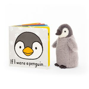 If I Were A Penguin Board Book - Jellycat