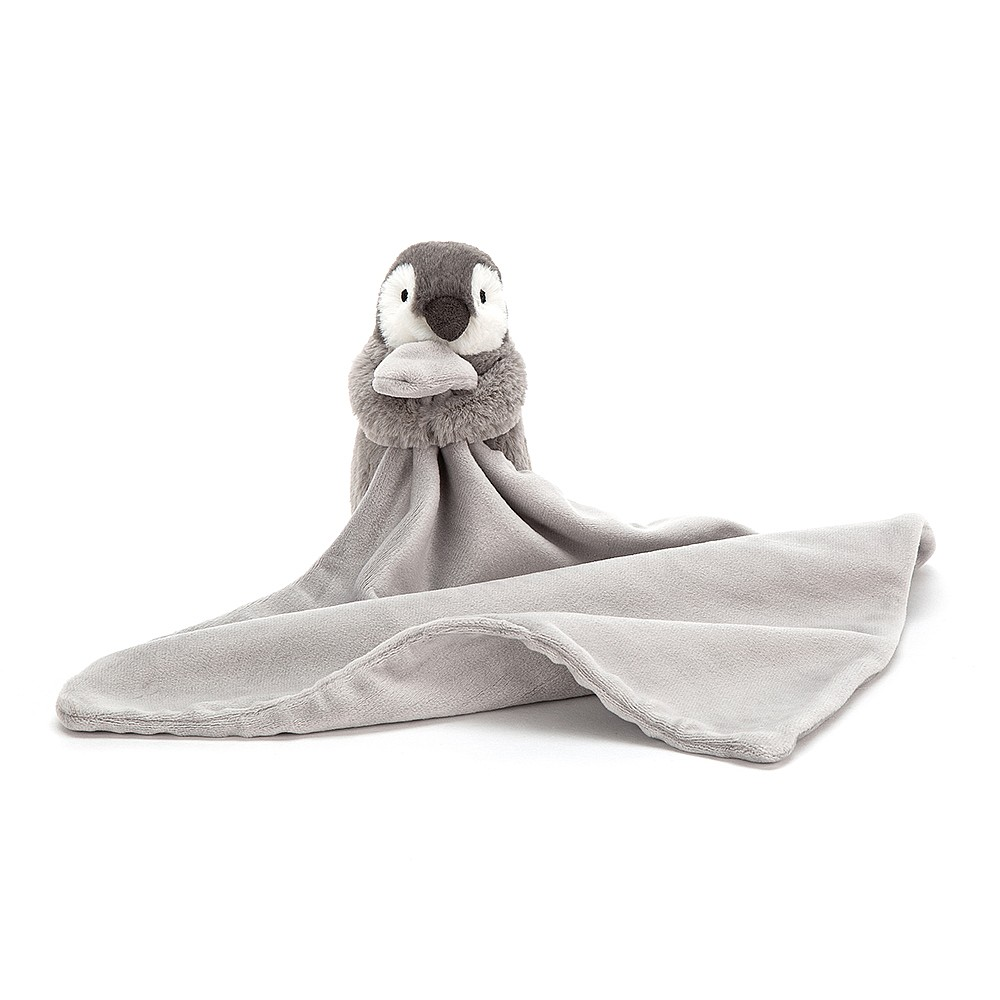 Sweetly neutral, the Percy Penguin Soother is fluffy-friendly in charcoal and heather. A scrummy soother, whatever the weather, it's held by Percy in his little flippers! Cuddle up close and dream of snow with a wonderful waggly penguin.