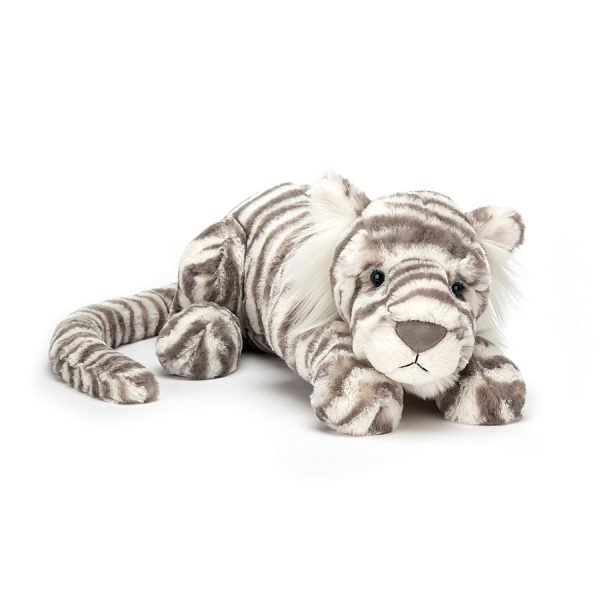 Jellycat Sacha Snow Tiger - Large, 18 Inch