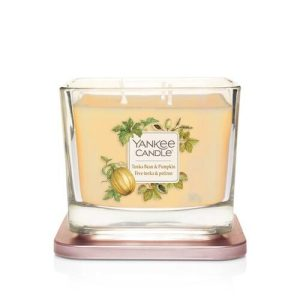 Yankee Candle Elevation Collection - Tonka Bean & Pumpkin - Medium 3-Wick Square Candle