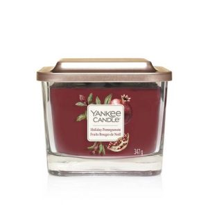 Yankee Candle Elevation Collection - Holiday Pomegranate - Medium 3-Wick Square Candle (Copy)