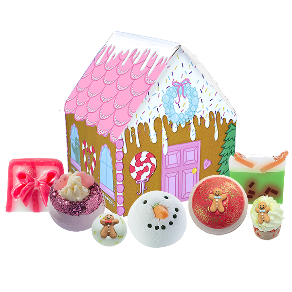 House of Sugar and Spice Gift Pack (Gingerbread House) - Bomb Cosmetics