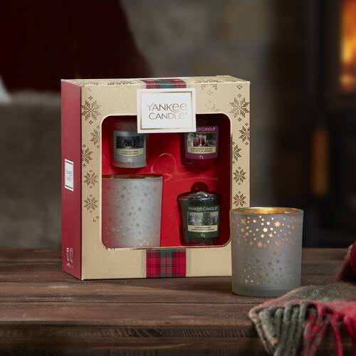 Yankee Candle 3 Votive Candle & Votive Holder Gift Set - 2019