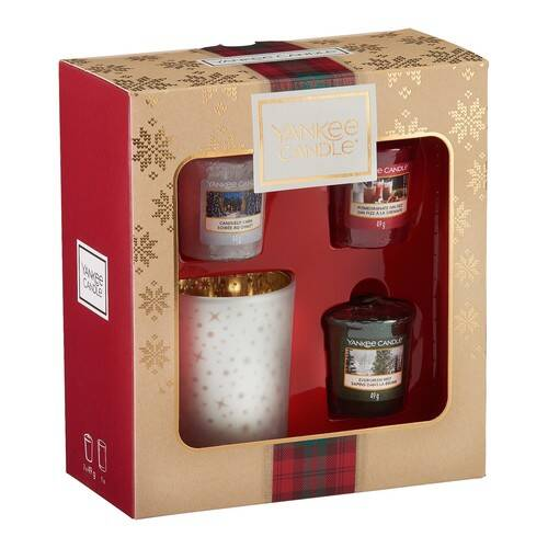 Yankee Candle 3 Votive Candle & Votive Holder Gift Set - 2019