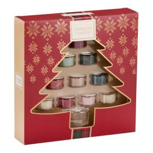 Yankee Candle Tree Shaped 10 Tea Lights & 1 Holder Gift Set - 2019