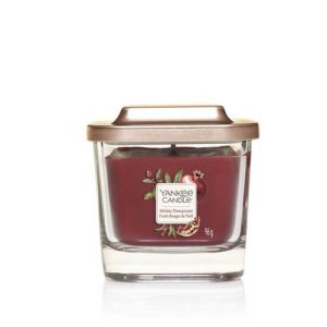 Yankee Candle Elevation Collection - Holiday Pomegranate - Small 1-Wick Square Candle