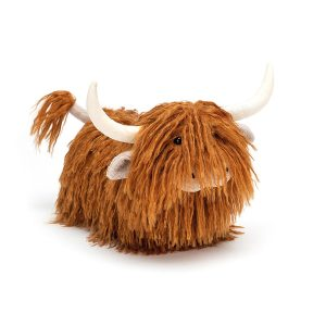 Jellycat Charming Highland Cow - Medium, 31 cm