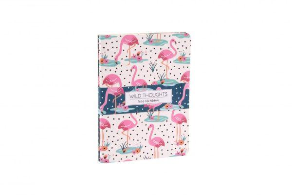 Wild Thoughts Flamingo Notebooks Set