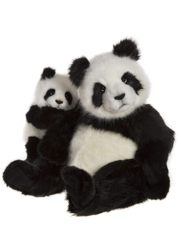 Fenella and Faith Panda Bears – Charlie Bears Plush CB17180102