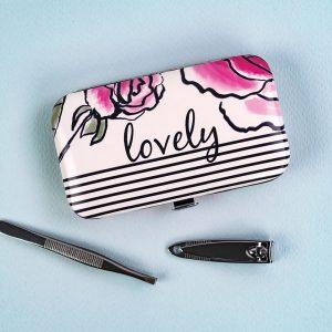 Secret Garden Lovely Floral Manicure Set and Case, SGG09 - Soul UK