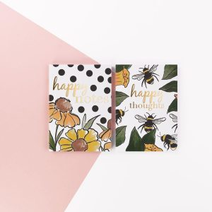 Secret Garden Two Pack of Notebooks - Happy Thoughts and Happy Notes - Soul UK, SGNBP03