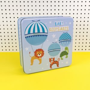 Blue Baby Boy Keepsakes Tin - Tickle Collection - Really Good