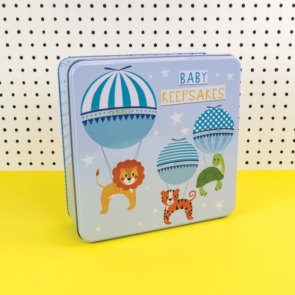Blue Baby Boy Keepsakes Tin - Tickle Collection - Really Good